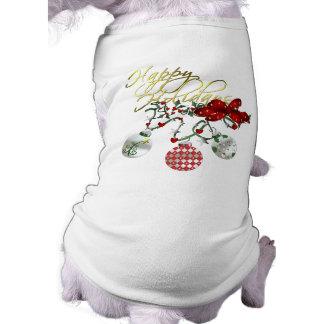 幸せな休日犬のワイシャツ ペット服