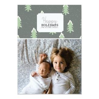 幸せな休日|のクリスマスツリーの写真カード カード