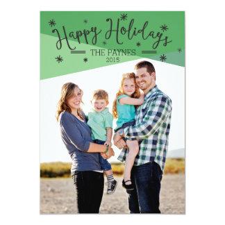 幸せな休日|の5x7写真の休日カード カード