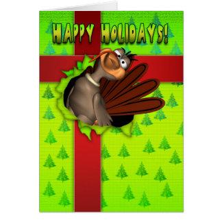 幸せな休日-ギフト用の箱のトルコ カード