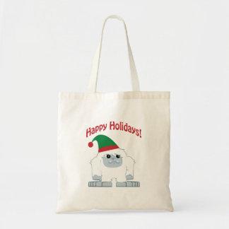 幸せな休日! クリスマスの雪男 トートバッグ