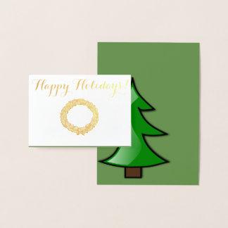 幸せな休日 箔カード