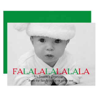 幸せな休日FaのLaのLaのLaのLaの写真テンプレート カード