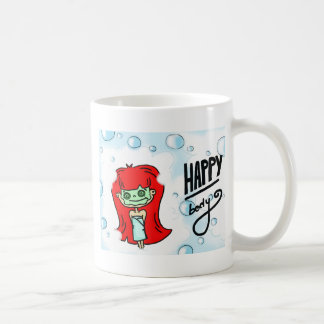 幸せな体及びBathの泡 コーヒーマグカップ