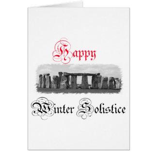 幸せな冬至Stonehenge カード