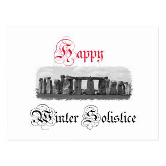 幸せな冬至Stonehenge ポストカード