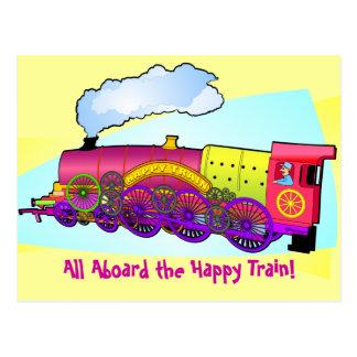 幸せな列車 ポストカード