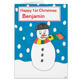 幸せな初めてのクリスマスベンジャーミン カード