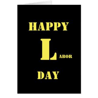 幸せな労働者の日の2017年の挨拶状 カード