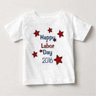 幸せな労働者の日のTシャツ ベビーTシャツ