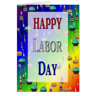 幸せな労働者の日カード カード