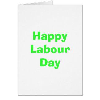幸せな労働者の日 カード