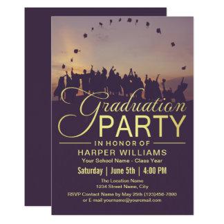 幸せな卒業生の卒業パーティー 12.7 X 17.8 インビテーションカード