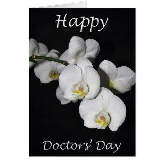 幸せな博士Day White Orchid Flowerの カード