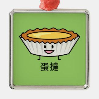 幸せな卵の鋭いカスタード皮の中国人のデザート メタルオーナメント