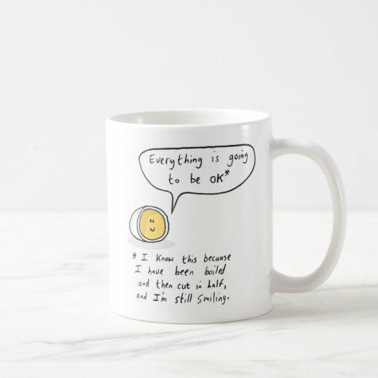 幸せな卵-すべては良い行っています コーヒーマグカップ