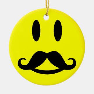 幸せな及び怒っている髭のにこやかなオーナメント セラミックオーナメント