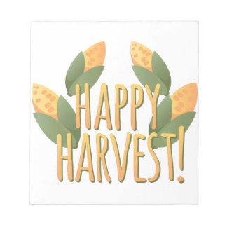 幸せな収穫 ノートパッド