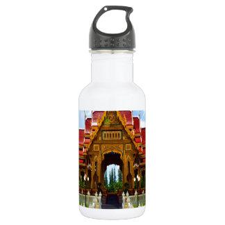 幸せな喜びの寺院の仏教のタイの宗教タイ ウォーターボトル