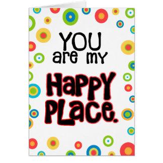 幸せな場所のバレンタイン愛 カード