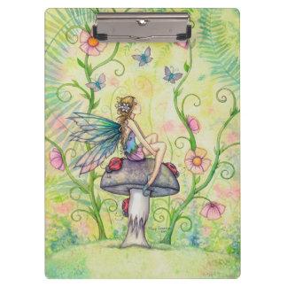 幸せな場所の妖精およびてんとう虫のファンタジーの芸術 クリップボード