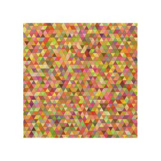 幸せな夏の三角形 ウッドウォールアート