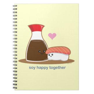 幸せな大豆一緒に ノートブック