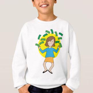 幸せな女性およびお金 スウェットシャツ