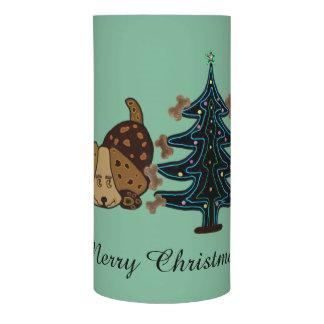 幸せな子犬のクリスマス LEDキャンドル