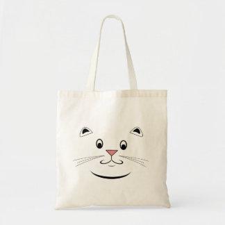 幸せな子猫猫の顔のトートバック トートバッグ
