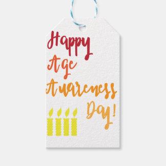 幸せな年齢の認識度日のおもしろいな誕生日 ギフトタグ