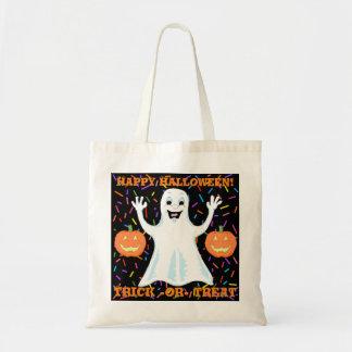 幸せな幽霊のハロウィンのトートバック トートバッグ