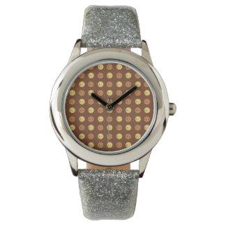 幸せな微笑させた点 腕時計