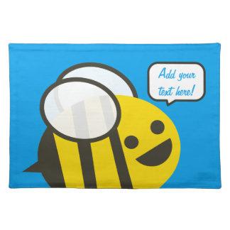 幸せな微笑のすてきな蜂 ランチョンマット