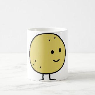 幸せな微笑のグレープフルーツのフルーツ コーヒーマグカップ
