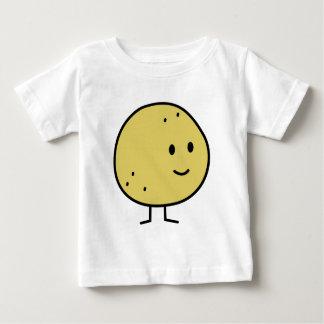 幸せな微笑のグレープフルーツのフルーツ ベビーTシャツ