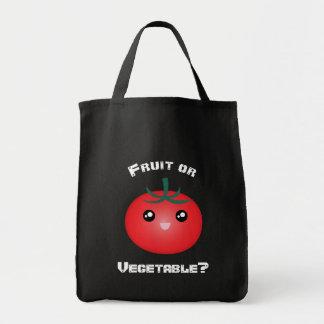 幸せな微笑のトマトのフルーツ野菜のかわいいEmoji トートバッグ