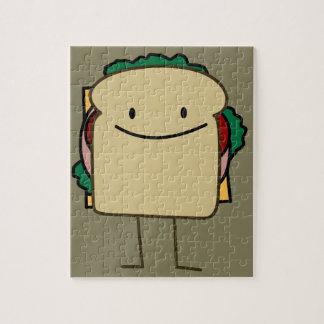 幸せな微笑サンドイッチ-クラシック ジグソーパズル