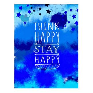 幸せな思考の収集できるギフトを考えて下さい ポストカード
