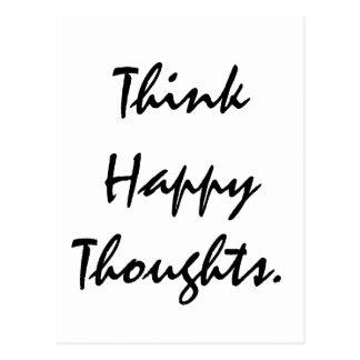 幸せな思考を考えて下さい ポストカード