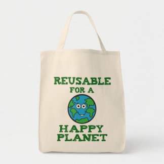 幸せな惑星のキャンバスのトート トートバッグ