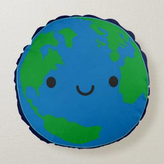 幸せな惑星の地球 ラウンドクッション