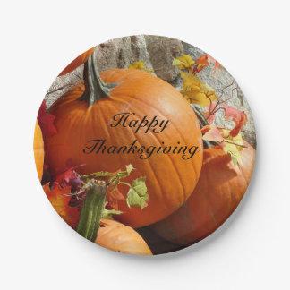幸せな感謝祭のカボチャ紙皿 ペーパープレート