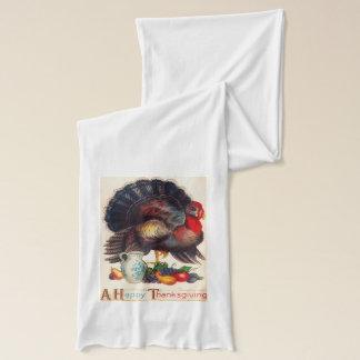 幸せな感謝祭のヴィンテージ スカーフ
