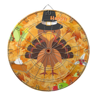 幸せな感謝祭の七面鳥 ダーツボード