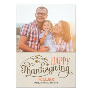 幸せな感謝祭の写真カード 12.7 X 17.8 インビテーションカード