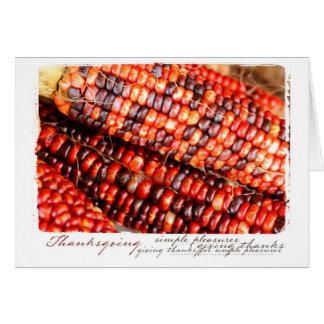 幸せな感謝祭の恵み グリーティングカード