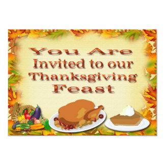 幸せな感謝祭の招待状 12.7 X 17.8 インビテーションカード