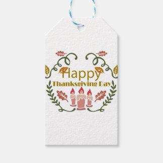 幸せな感謝祭の秋のフェスティバル ギフトタグ