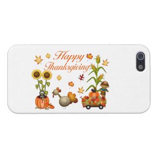 幸せな感謝祭の紅葉のカボチャ及びトルコ iPhone 5 COVER